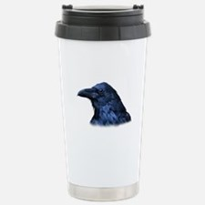 Portrait of a Raven Stainless Steel Travel Mug