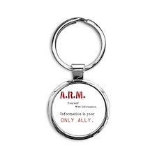 A.R.M. Round Keychain