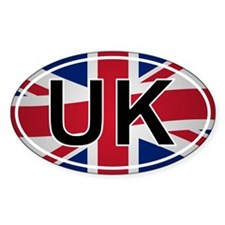 United Kingdom Oval Sticker - Union Jack Design