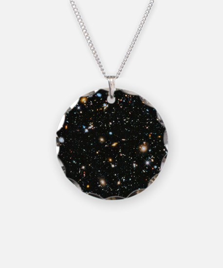 Evolving Universe Necklace Circle Charm