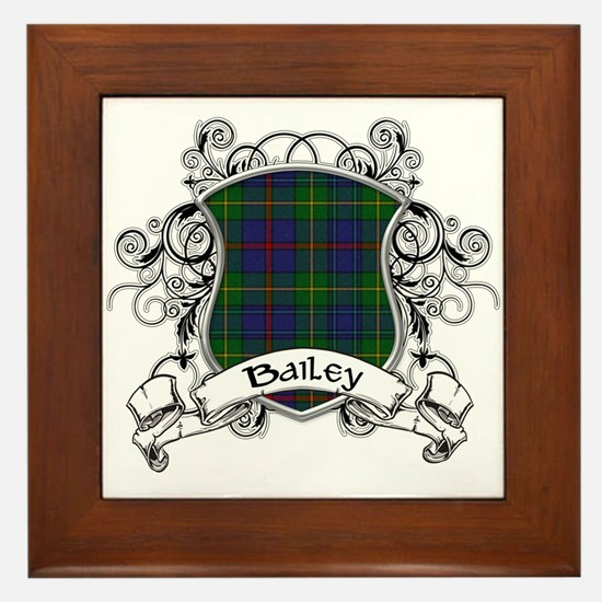 Bailey Tartan Shield Framed Tile