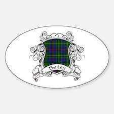 Bailey Tartan Shield Sticker (Oval)