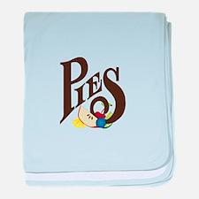 Pies baby blanket