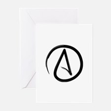 Atheist Symbol Greeting Cards