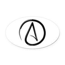 Atheist Symbol Oval Car Magnet