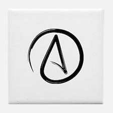 Atheist Symbol Tile Coaster