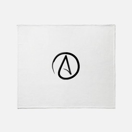 Atheist Symbol Throw Blanket