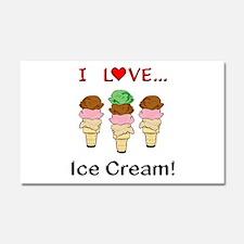 I Love Ice Cream Car Magnet 20 x 12