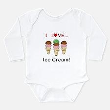 I Love Ice Cream Long Sleeve Infant Bodysuit