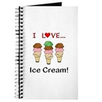 I Love Ice Cream Journal