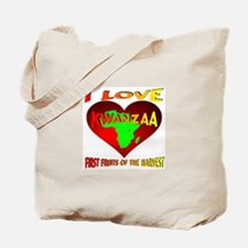 I Love Kwanzaa First Fruits of the Harves Tote Bag