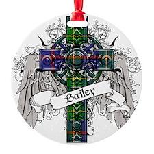 Bailely Tartan Cross Ornament