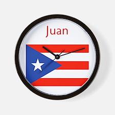 Custom Name Bandera Boriqua 23 Pahtay Wall Clock