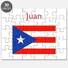 Custom Name Bandera Boriqua 23 Pahtay Puzzle