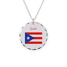 Custom Name Bandera Boriqua Necklace