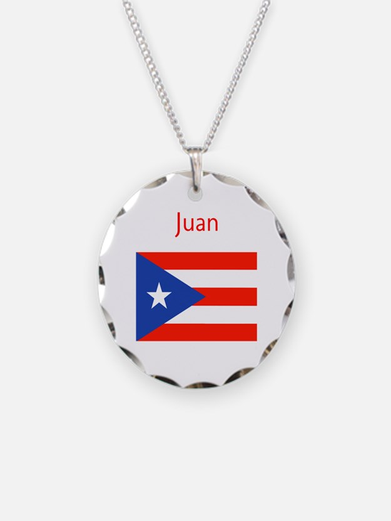 Custom Name Bandera Boriqua Necklace Circle Charm