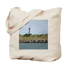 Vilano View of St. Augustine Lighthouse Tote Bag