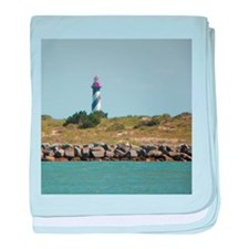 Vilano View of St. Augustine Lighthouse baby blank