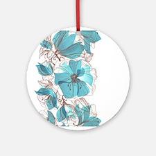 Pretty Floral Ornament (Round)