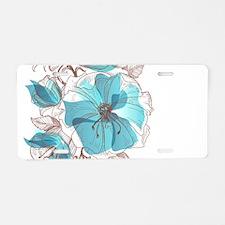 Pretty Floral Aluminum License Plate