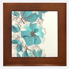 Pretty Floral Framed Tile