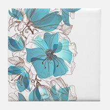 Pretty Floral Tile Coaster
