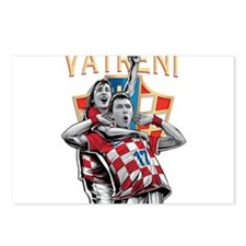 Croatia Soccer Vatreni Luka and Mario Postcards (P