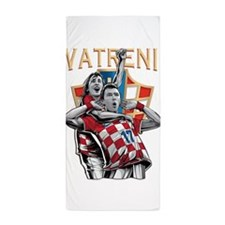 Croatia Soccer Vatreni Luka and Mario Beach Towel