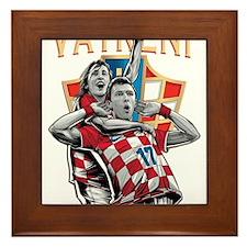 Croatia Soccer Vatreni Luka and Mario Framed Tile