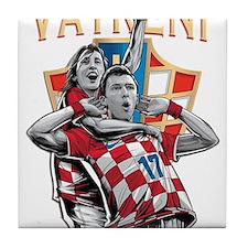 Croatia Soccer Vatreni Luka and Mario Tile Coaster