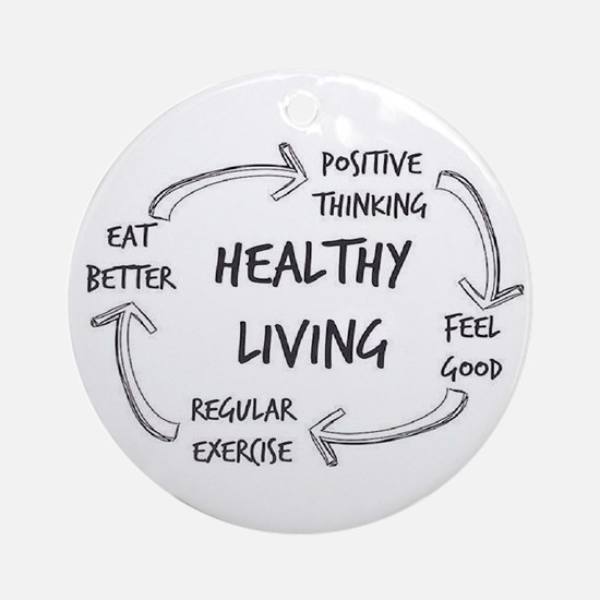 Healthy Living Ornament (Round)