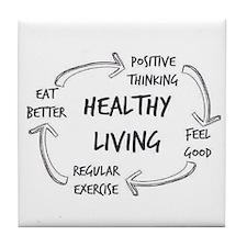 Healthy Living Tile Coaster