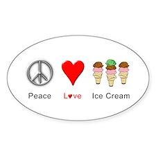 Peace Love Ice Cream Decal