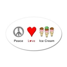 Peace Love Ice Cream Wall Decal