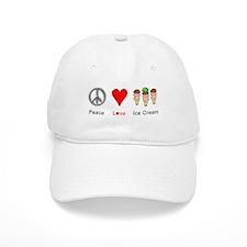 Peace Love Ice Cream Baseball Cap
