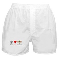 Peace Love Ice Cream Boxer Shorts