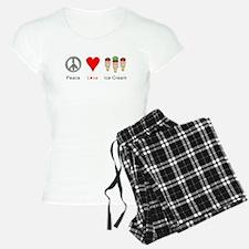 Peace Love Ice Cream Pajamas