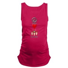 Peace Love Ice Cream Maternity Tank Top