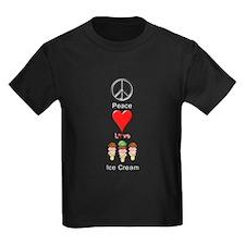Peace Love Ice Cream T