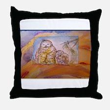 Owls! Wildlife art Throw Pillow