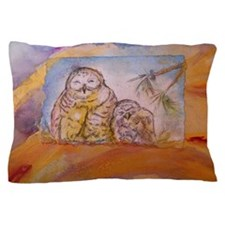 Owls! Wildlife art Pillow Case
