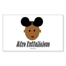 Afro Puffalicious Rectangle Decal