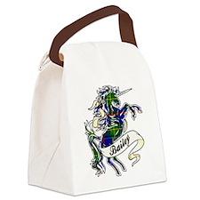 Bailey Tartan Unicorn Canvas Lunch Bag