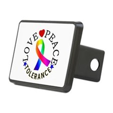 Love Peace Tolerance Gifts Hitch Cover