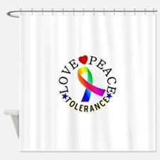 Love Peace Tolerance Gifts Shower Curtain
