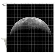 Moon Photography Tiled Effect Shower Curtain