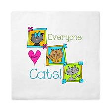 Everyone Loves Cats Queen Duvet