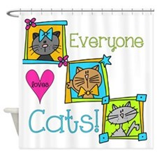 Everyone Loves Cats Shower Curtain