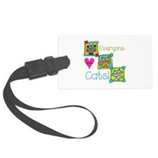Everyone Loves Cats Luggage Tag