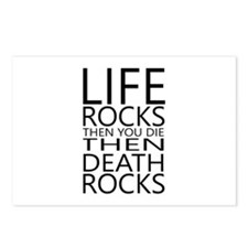 Life Rocks Then You Die Postcards (package Of 8)